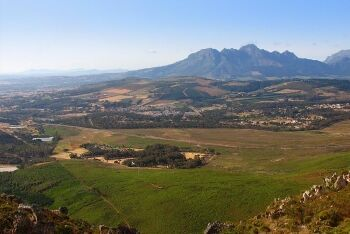 Somerset West from Sir Lowry\'s Pass, Cape Town